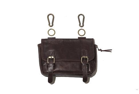 Bullet Bag (brown) w/ solid brass carabiners & keyrings