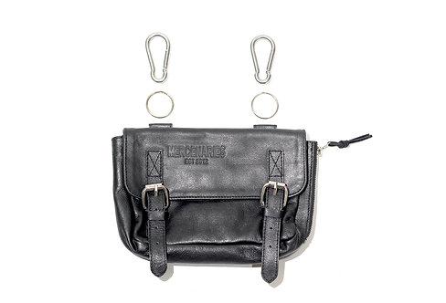 Bullet Bag (black) w/ stainless steel carabiners & keyrings
