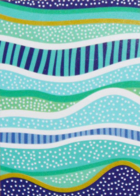 ABORIGINAL TEA TOWEL, KITCHEN TOWEL - COTTON - AUSTRALIA, RAINBOW REEF
