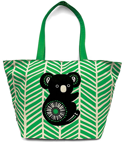 Australian Beach Bag, Overnight Bag, Day Bag, Tote Bag, Shopping Bag-Koala,Retro