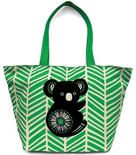 Australian Beach Bag, Overnight Bag, Day Bag, Tote Bag, Shopping Bag-Koala,Retro