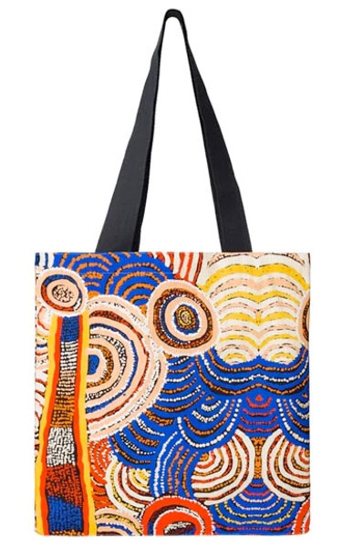 Aboriginal Tote Bag, Shopping Bag, Beach Bag, Carry Bag - Australia, Davidson