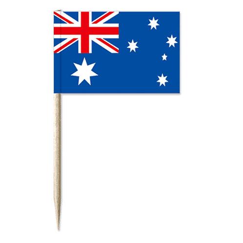 20 x Australian Flag Toothpicks - Aussie Flag, Australia Day, Aussie Day