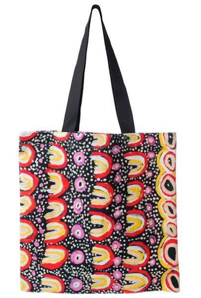 Aboriginal Tote Bag, Shopping Bag, Beach Bag, Carry Bag - Australia, Maggie Long