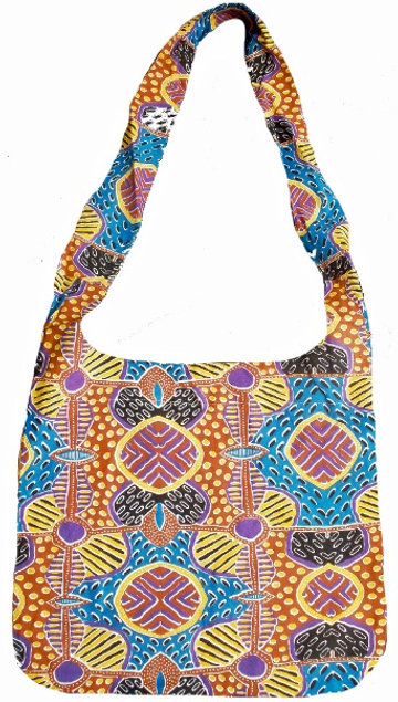 Tote Bag, Shopping Bag, Beach Bag, Day Bag - Australia, Aboriginal, Brown, Pink