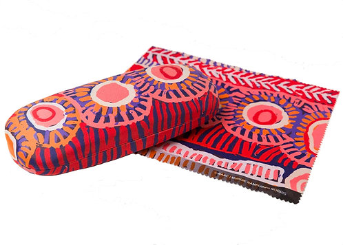 Aboriginal Glasses Case + Lens Cloth - Hard Shell - Australia, Murdie Morris