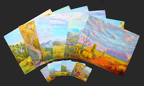 6 Placemats + 6 Coasters - Australian Countryside
