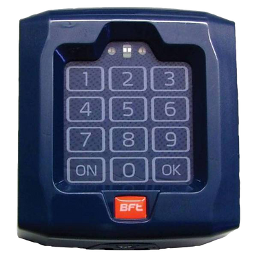 KEYPAD - BFT Q.BO TOUCH - WIRELESS TOUCHPAD; 100 CODES; 10 CHANNELS