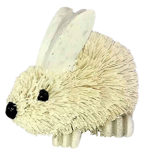 6 x White Baby Rabbit Standing Ornaments, 8 x 5cm - Easter, Decorative