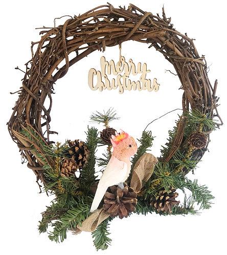 "30cm / 12"" CHRISTMAS GRAPEVINE WREATH - HANDMADE - AUSTRALIAN MAJOR MITCHELL"