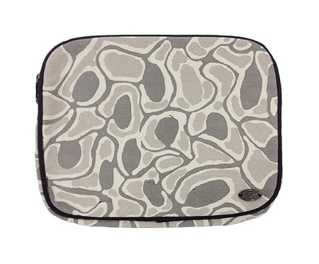 Pencil Case, Stationary, Tablet Holder - Australia, Aboriginal, Grey