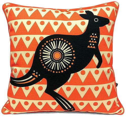Cushion Cover - 45 x 45cm - Canvas - Australia, Kangaroo, Retro