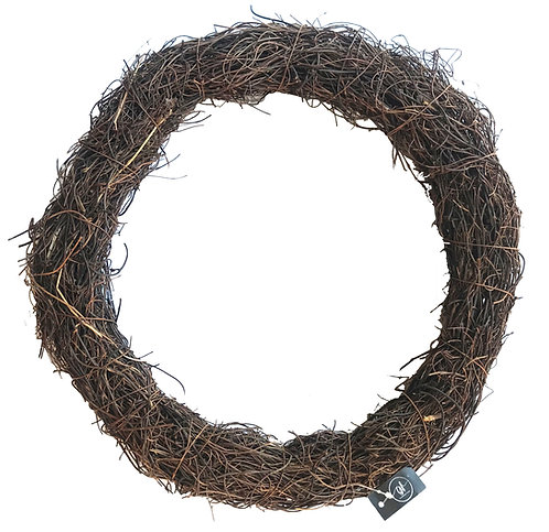 "14"" / 35cm Grapevine Wreath, Door Hanger - Large,Round,Natural,Brown,Christmas"
