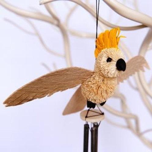 Windchime, Wind Chime, Mobile - White Cockatoo Bird - Australia, Gift, Souvenir