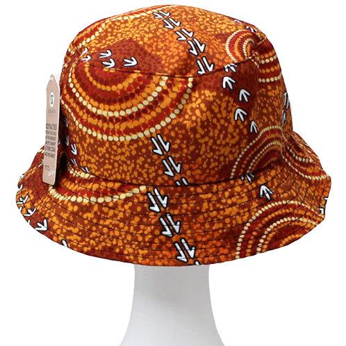 Aboriginal Bucket Hat - Adult SIze - Soft Cotton - Australia, Luther Cora Dry