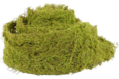 1mtr Wired Artificial Moss Ribbon, Runner - Fake,Wall,Fairy Garden,Wreath,Vase