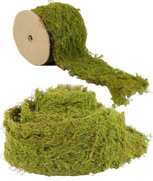 2mtrs Wired Artificial Moss Roll, Ribbon, Runner - Fake,Wall,Fairy Garden,Wreath