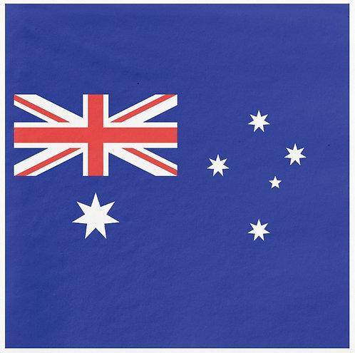 16 x Australian Flag Napkins - Aussie Flag, Australia Day, Aussie Day