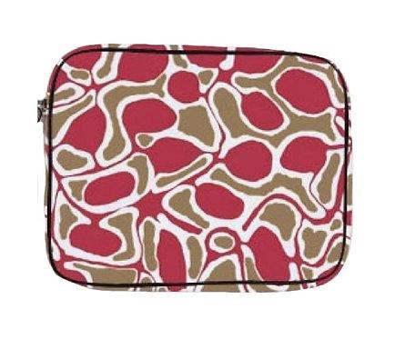 Pencil Case, Stationary, Tablet Holder - Australia, Aboriginal, Green, Pink