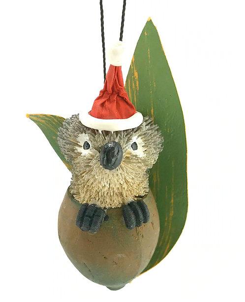 Gumnut Baby Koala - Christmas Tree Hanging Ornament - Australian Animal