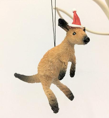 Brown Kangaroo - Christmas Tree Hanging Ornament - Australian Animal