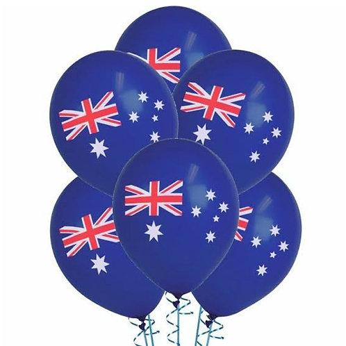 10 x Australian Flag Balloons - Aussie Flag, Australia Day, Aussie Day