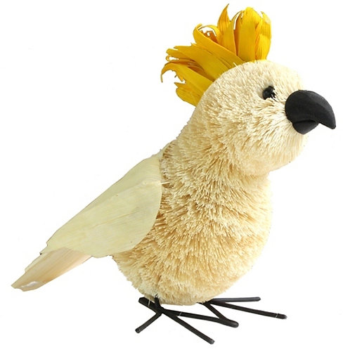 Large 22cm White Cockatoo Bird - Standing Ornament - Australia
