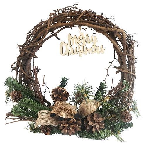"30cm / 12"" CHRISTMAS GRAPEVINE WREATH - HANDMADE - AUSTRALIAN ANIMAL, PLATYPUS"