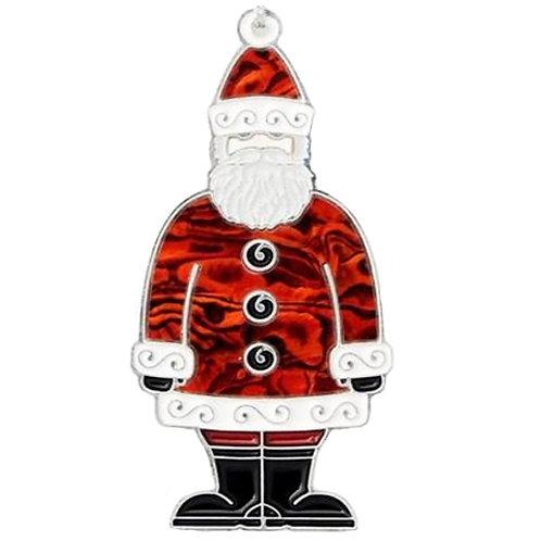 Santa Claus, Father Christmas - Christmas Tree Hanging Ornament - Abalone Shell