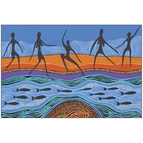 Aboriginal Art Fridge Magnet - 85x55mm - Australia, Tobwabba Ngagul Mullet