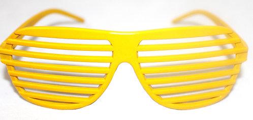 YELLOW SHUTTER, SLAT GLASSES (PLASTIC) - KIDS,CHILD,NOVELTY,PARTY,COSTUME,B'DAY