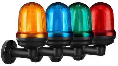 FLASHING LIGHT - ELSEMA E80L SERIES- LED, LOCAL BUZZER - AMBER, BLUE, GREEN, RED