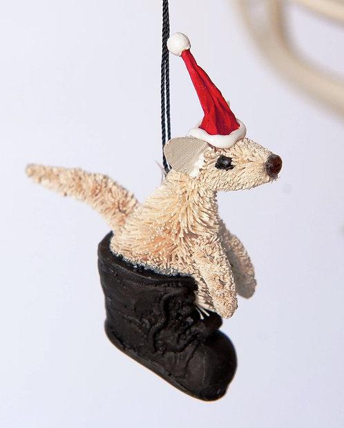 JOEY KANGAROO IN BOOT - CHRISTMAS TREE HANGING ORNAMENT - AUSTRALIAN ANIMAL