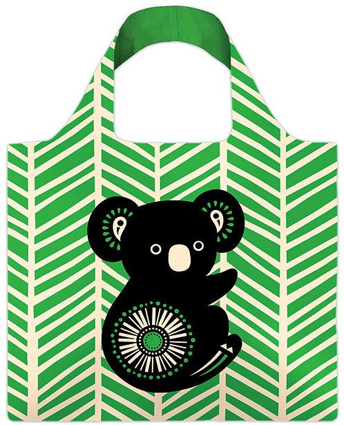 Shopping, Carry, Tote Bag - Reusable, Waterproof - Australia, Koala, Retro