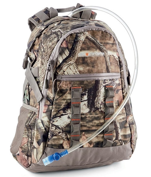25L Camo Backpack + 2L Hydration System - Hiking, Walking, Day-Overnight Pack