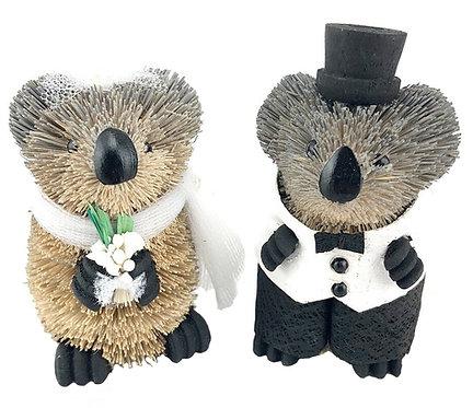 Wedding Cake Toppers - Bride & Groom - Australian Animals, Koalas