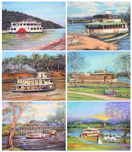 6 Placemats + 6 Coasters - Australia,Cork - Paddle Steamer,River Boats,Nostalgia