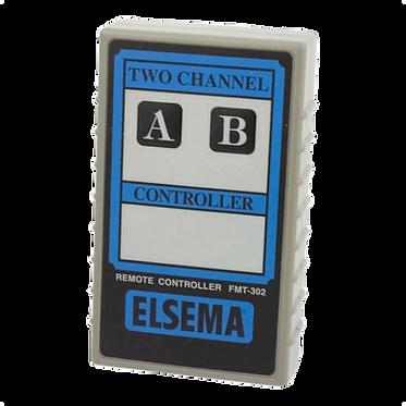 ELSEMA FMT-302 - 2 BUTTON REMOTE CONTROL / TRANSMITTER - 9V, 27 Mhz