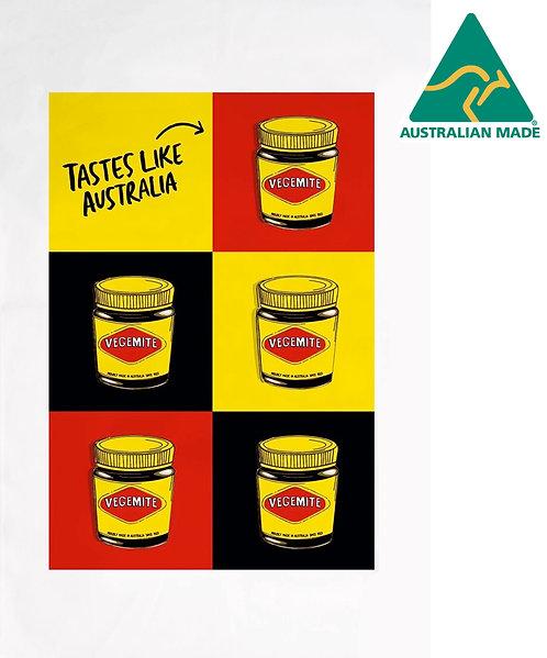 Tea Towel, Kitchen Towel - 100% Cotton - Australia, Vegemite, Pop Art