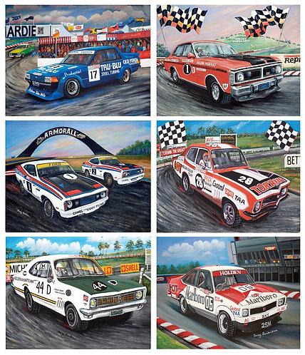 6 Placemats + 6 Coasters - Australia, Cork - Bathurst, Cars, Holden, Ford, Brock