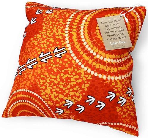 Aboriginal Cushion + Filling - Vacuum Sealed, Removable - Australia, Cora Dry