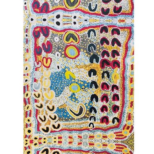 ABORIGINAL TEA TOWEL - 100% COTTON - AUSTRALIAN MADE - ROSIE LALA, YARLIYIL