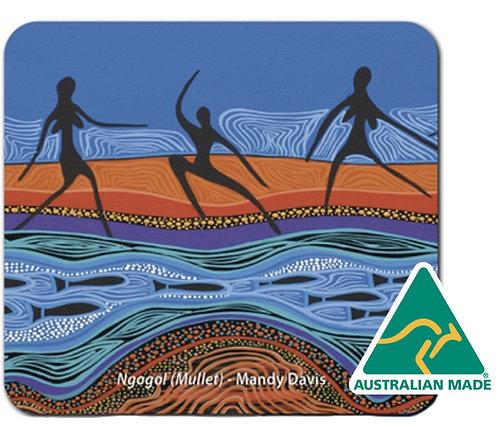 6 Coasters - Australia, Aboriginal Art, Tobwabba Ngagul Mullet