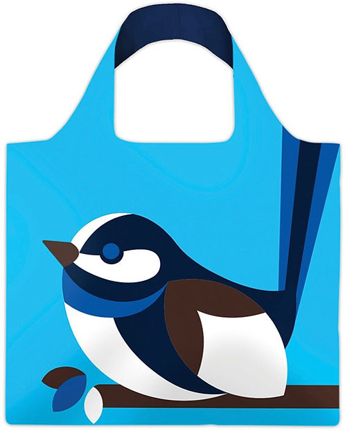 Shopping, Carry, Tote Bag - Reusable, Waterproof - Australian Bird, Blue Wren