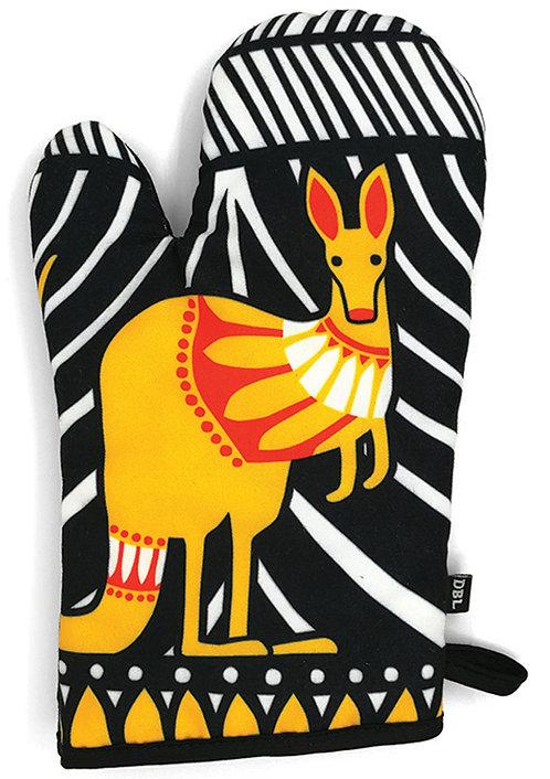 Oven Mitt, Oven Glove - 100% Cotton - Australian Animal, Kangaroo, Scandi