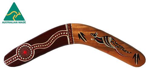 "16"" / 40cm HARDWOOD BOOMERANG - ABORIGINAL CLASSIC KANGAROO - AUSTRALIAN MADE"