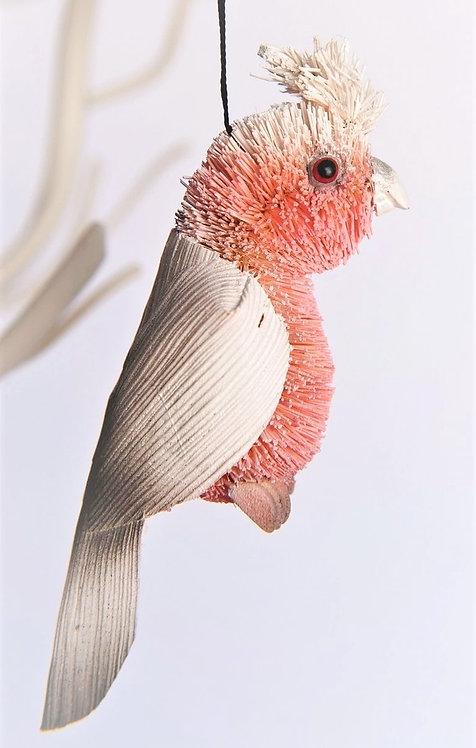 PINK GALAH COCKATOO - CHRISTMAS TREE HANGING ORNAMENT - AUSTRALIAN BIRD