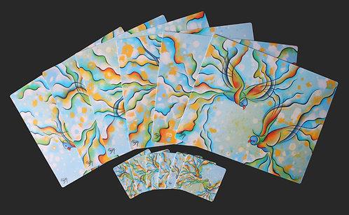 6 Placemats + 6 Coasters - Rainbow Lorikeets