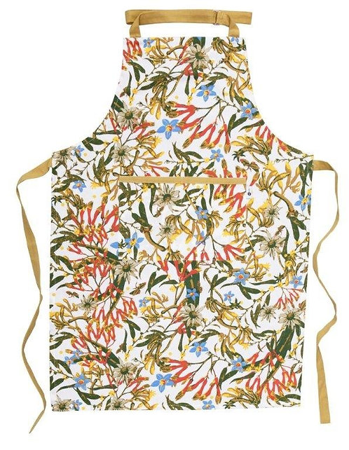 Apron - In Gift Bag - Full Length, OSFA - Australian Wildflowers, Kangaroo Paw