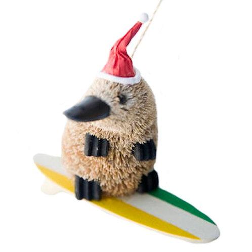 SURFING PLATYPUS - CHRISTMAS TREE HANGING ORNAMENT - AUSTRALIAN ANIMAL